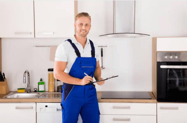 repairman on the job
